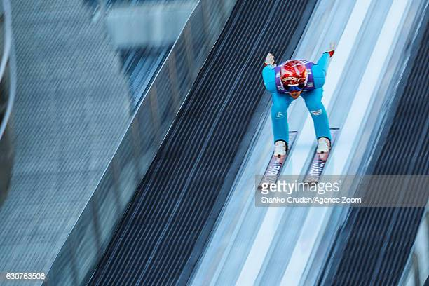 Vincent Descombes Sevoie of France in action during the FIS Nordic World Cup Four Hills Tournament on January 1 2017 in GarmischPartenkirchen Germany