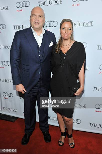 Vincent D'Onofrio and Carin van der Donk attend The Judge PostScreening Event Presented By Audi Canada At Montecito Restaurant 2014 Toronto...