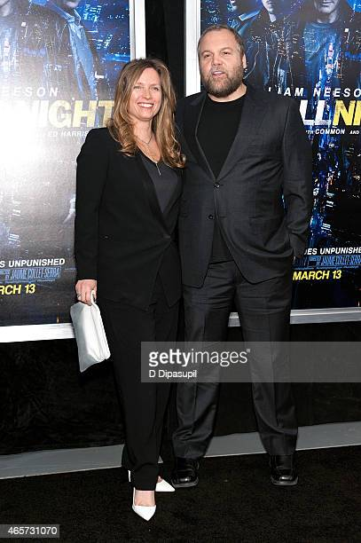 Vincent D'Onofrio and Carin van der Donk attend the Run All Night New York Premiere at AMC Lincoln Square Theater on March 9 2015 in New York City