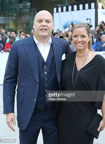 Vincent D'Onofrio and Carin van der Donk attends the premiere of 'The Judge' at Roy Thomson Hall on September 4 2014 in Toronto Canada