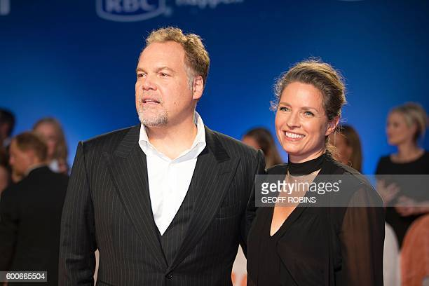 Vincent D'Onofrio and his wife Carin van der Donk pose for photographers at the premiere of the Magnificent 7 at the Toronto International Film...