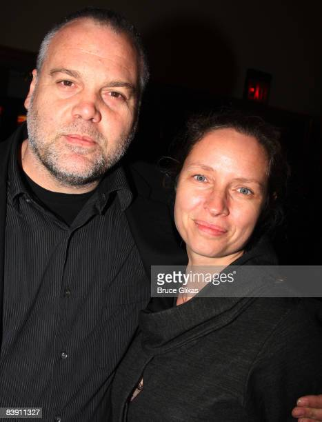 Vincent D'Onofrio and wife Carin Van Der Donk attends the opening night of Liza's At The Palace on Broadway at the Palace Theatre on December 3 2008...