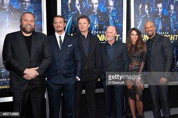 Vincent DOnofrio Joel Kinnaman Liam Neeson Ed Harris Genesis Rodriguez and Common attend the 'Run All Night' New York Premiere at AMC Lincoln Square...