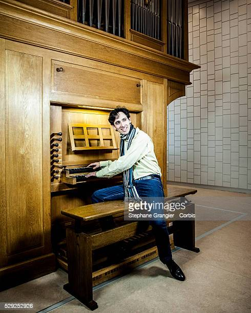 Vincent Dubois organist musician director of the Strasbourg Music Conservatory photographed in Strasbourg