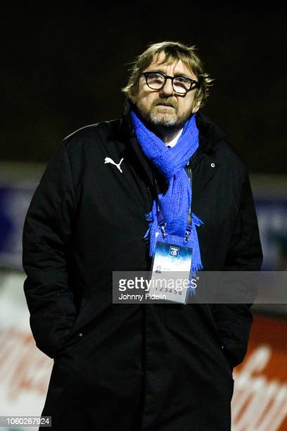Vincent Dupond president of Massy before the Pro D2 match between Massy and Oyonnax on November 9 2018 in Massy France