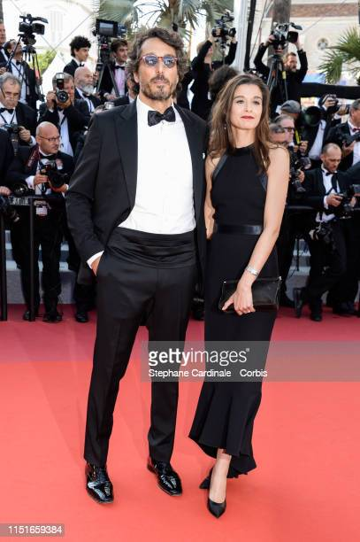Vincent Elbaz and Fanny Conquy attend the Closing Ceremony Red Carpet during the 72nd annual Cannes Film Festival on May 25, 2019 in Cannes, France.