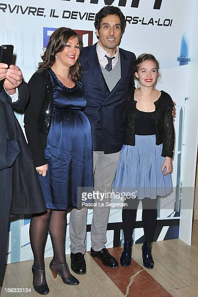 Vincent Elbaz Anne Girouard and Sarah Brannens attend 'No Limit' a Europacorp And TF1 Series Launch at UGC George V on November 13 2012 in Paris...