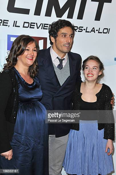 Vincent Elbaz, Anne Girouard and Sarah Brannens attend 'No Limit', a Europacorp And TF1 Series Launch at UGC George V on November 13, 2012 in Paris,...