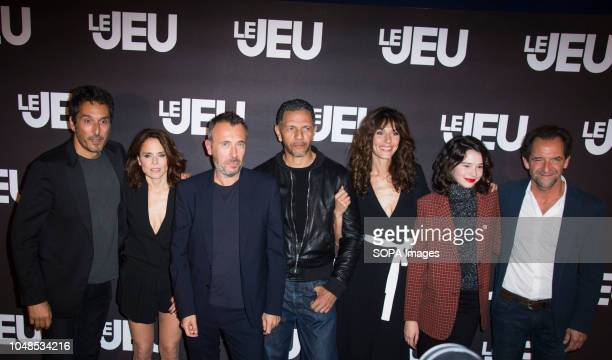 Vincent Elbaz Suzanne Clement director Fred Cavaye Roschdy Zem Doria Tillier Fleur Fitoussi and Stephane de Groodt seen posing for a picture during...