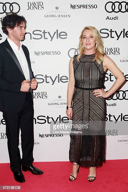 Vincent Fantauzzo and Asher Keddie arrive at the 2015 Women of Style Awards at Carriageworks on May 13, 2015 in Sydney, Australia.