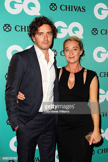 Vincent Fantauzzo and Asher Keddie arrive for the GQ Men Of The Year Awards 2014 at The Ivy on November 19, 2014 in Sydney, Australia.