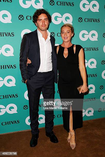 Vincent Fantauzzo and Asher Keddie arrives for the GQ Men Of The Year Awards 2014 at The Ivy on November 19, 2014 in Sydney, Australia.