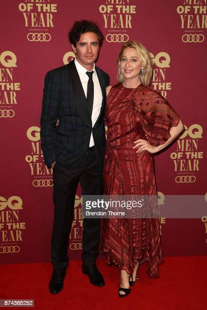 Vincent Fantauzzo and Asher Keddie attend the GQ Men Of The Year Awards at The Star on November 15, 2017 in Sydney, Australia.