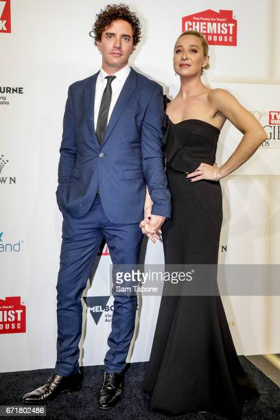 Vincent Fantauzzo and Asher Keddy arrives at the 59th Annual Logie Awards at Crown Palladium on April 23 2017 in Melbourne Australia