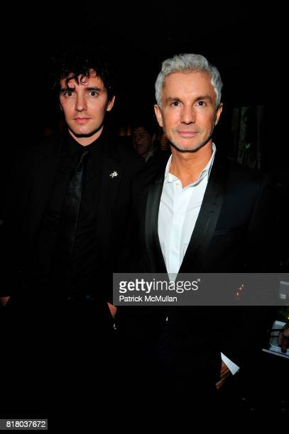 Vincent Fantauzzo and Baz Luhrmann attend DOM PERIGNON closes Fashion Week with a tribute to Andy Warhol at VILLA PACRI NYC on September 16, 2010 in...
