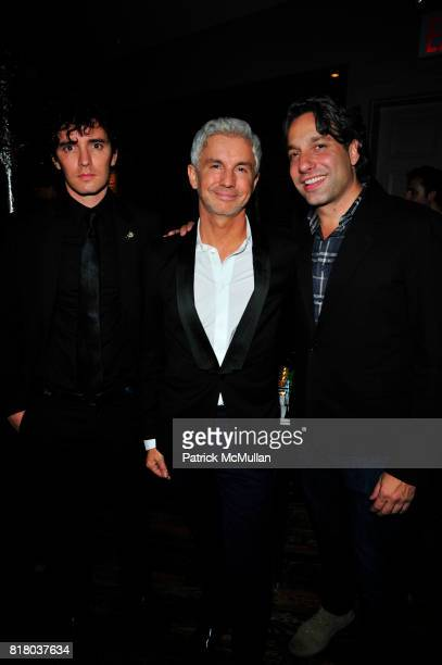 Vincent Fantauzzo, Baz Luhrmann and Thom Felicia attend DOM PERIGNON closes Fashion Week with a tribute to Andy Warhol at VILLA PACRI NYC on...