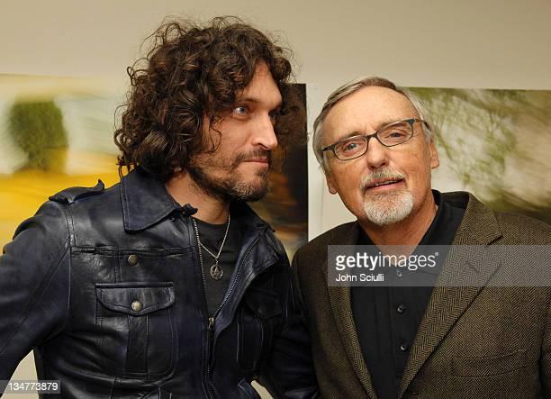 Vincent Gallo and Dennis Hopper at Azzurra during Azzurra ArtistinResidence Event Celebrating Peter Alexander Joe Goode and Dennis Hopper at 13700...