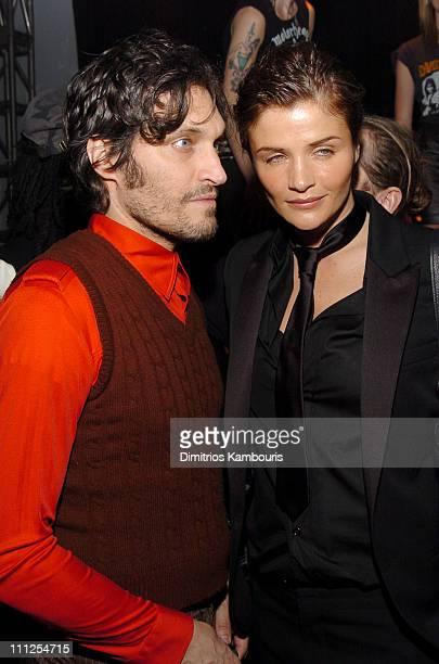 Vincent Gallo and Helena Christensen during Dior Homme Concert and Party in Honor of Store Opening at 545 West 22nd Street in New York City New York...