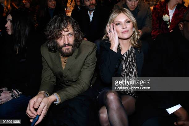 Vincent Gallo and Kate Moss attend the Saint Laurent show as part of the Paris Fashion Week Womenswear Fall/Winter 2018/2019 on February 27 2018 in...