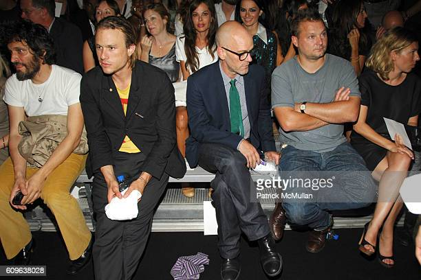 Vincent Gallo Heath Ledger Michael Stipe Juergen Teller and attend MARC JACOBS Spring 2008 Collection at The New York State Armory on September 10...
