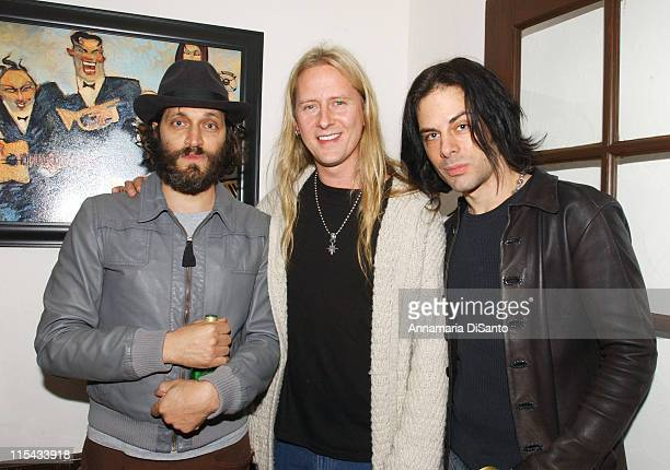 Vincent Gallo Jerry Cantrell and Ritchie Kotzen during Jerry Cantrell's Birthday Party in Los Angeles March 18 2006 at Private Residence in Los...