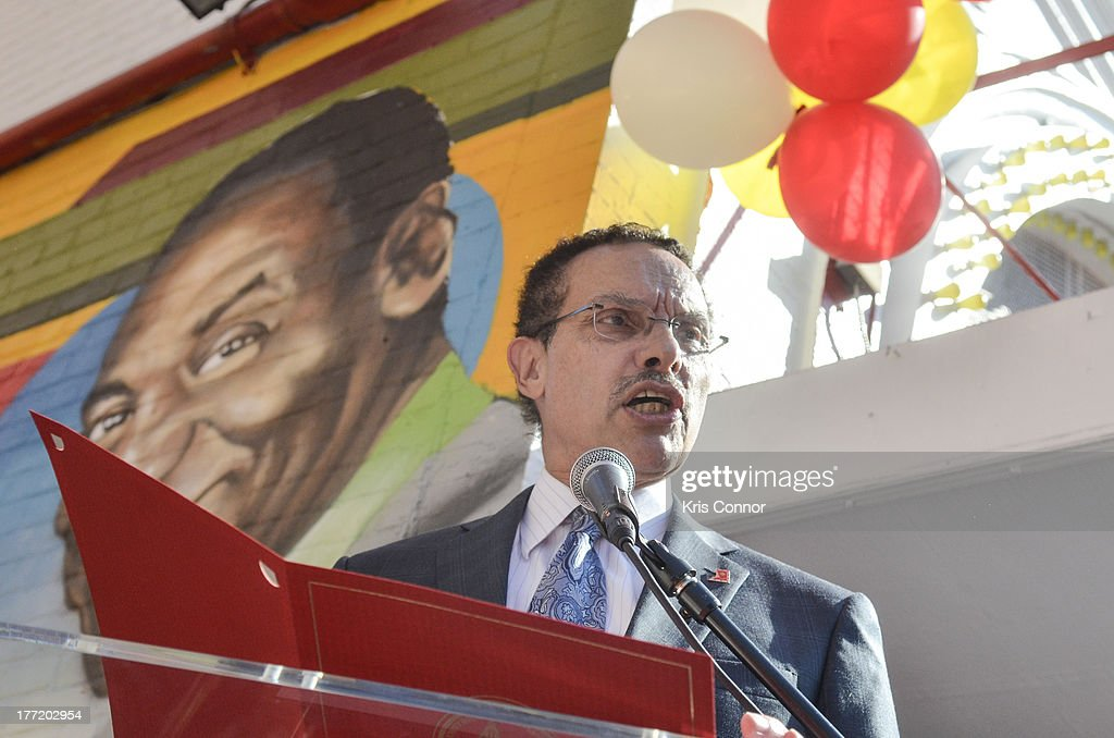 Vincent Gray speaks during the 55th Anniversary of Ben's Chili Bowl on August 22, 2013 in Washington, DC.