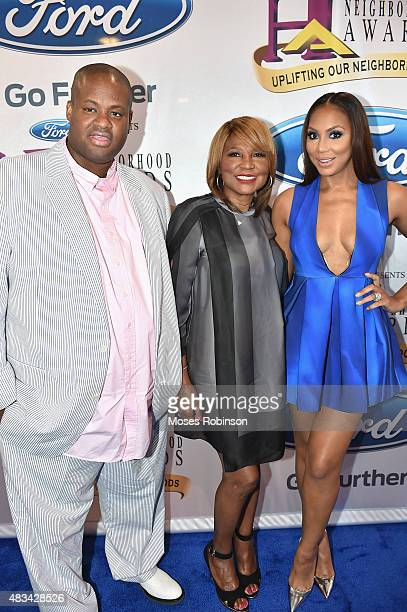 Vincent Herbert Evelyn Braxton and Tamar Braxton attend the 2015 Ford Neighborhood Awards Hosted By Steve Harvey at Phillips Arena on August 8 2015...