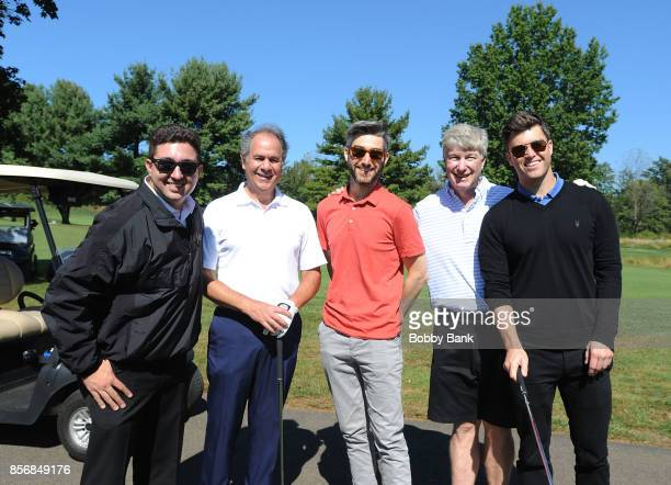 Vincent Innocente from St George Theatre Casey Jost writer for Impractical Jokers SNL cast member Colin Jost and their father Daniel A Jost attend...