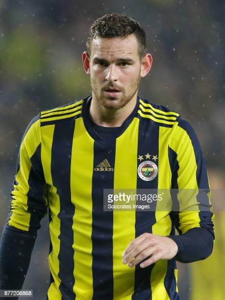 Vincent Janssen of Fenerbahce during the Turkish Super lig match between Fenerbahce v Sivasspor at the Sukru Saracoglustadion on November 19 2017 in...