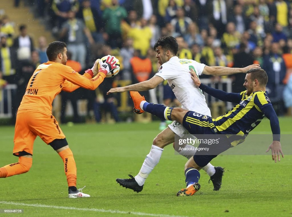 Vincent Janssen Of Fenerbahce In Action Against Bursaspor