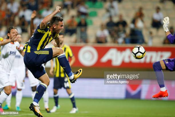 Vincent Janssen of Fenerbahce in action during a Turkish Super Lig's 5th week match between Aytemiz Alanyaspor and Fenerbahce at the Bahcesehir...