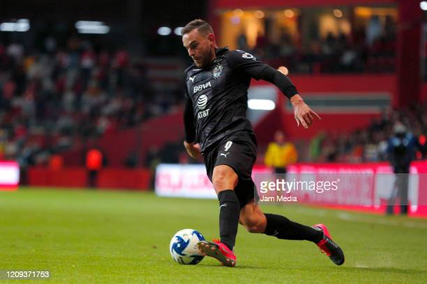 Vincent Janssen of Monterrey controls the ball during the 8th round match between Toluca and Monterrey as part of the Torneo Clausura 2020 Liga MX at...
