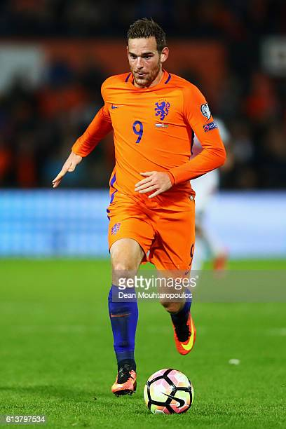Vincent Janssen of the Netherlands in action during the FIFA 2018 World Cup Qualifier between Netherlands and Belarus held at De Kuip on October 7...