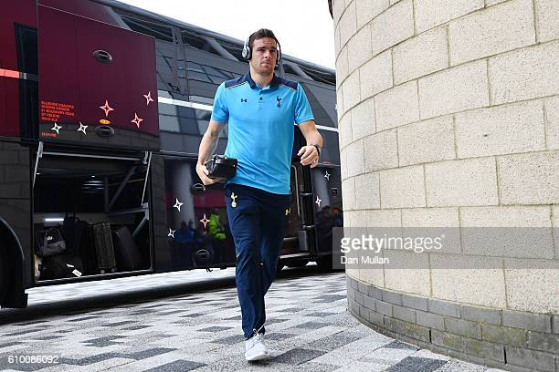 Vincent Janssen of Tottenham Hotspur arrives at the stadium prior to kick off during the Premier League match between Middlesbrough and Tottenham...