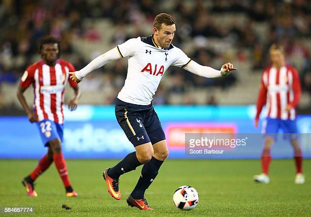 Vincent Janssen of Tottenham Hotspur controls the ball during 2016 International Champions Cup Australia match between Tottenham Hotspur and Atletico...
