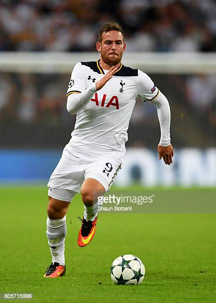 Vincent Janssen of Tottenham Hotspur in action during the UEFA Champions League match between Tottenham Hotspur FC and AS Monaco FC at Wembley...