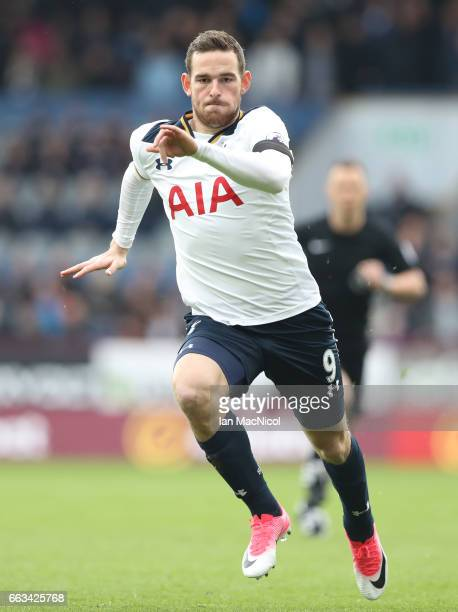 Vincent Janssen of Tottenham Hotspur is seen during the Premier League match between Burnley and Tottenham Hotspur at Turf Moor on April 1 2017 in...