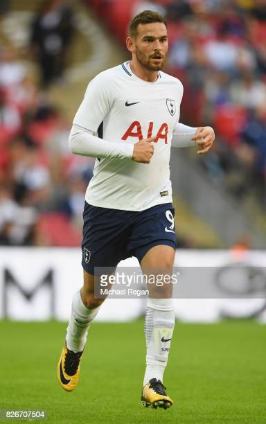 Vincent Janssen of Tottenham looks on during the preseason match between Tottenham Hotspur and Juventus at Wembley Stadium on August 5 2017 in London...