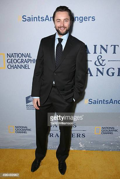 Vincent Kartheiser attends National Geographic Channel's Saints Strangers World Premiere Event at Saban Theatre on November 9 2015 in Beverly Hills...