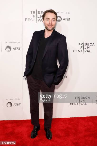 Vincent Kartheiser attends the premiere of 'Genius' during the 2017 Tribeca Film Festival at Borough of Manhattan Community College on April 20 2017...