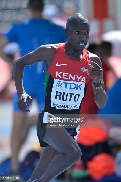 Vincent Kipyegon Ruto from Kenya competes in men's 3000 metres steeplechase during the IAAF World U20 Championships at the Zawisza Stadium on July 21...