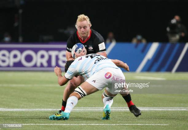 Vincent Koch of Saracens during the Heineken Champions Cup Semi Final match between Racing 92 and Saracens at Paris La Defense Arena on September 26...