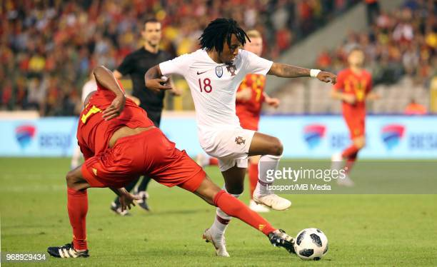 Vincent KOMPANY and Gelson MARTINS pictured in action during a friendly game between Belgium and Portugal as part of preparations for the 2018 FIFA...