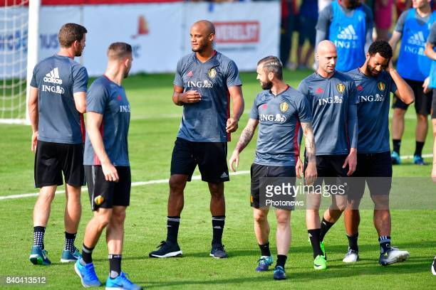 Vincent Kompany defender of Belgium pictured during a training session of the National Soccer Team of Belgium prior to the World Cup 2018...