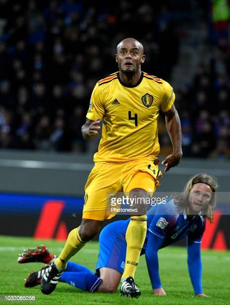 Vincent Kompany defender of Belgium pictured during the UEFA Nations League match between Iceland and Belgium on September 11 2018 in Reykjavik...