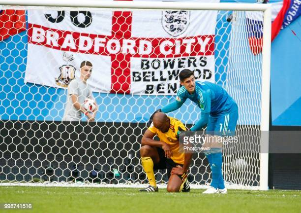 Vincent Kompany defender of Belgium Thibaut Courtois goalkeeper of Belgium during the FIFA 2018 World Cup Russia Playoff for third place match...