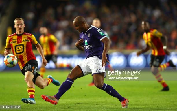 Vincent Kompany of Anderlecht during the Jupiler Pro League match between RSC Anderlecht and KV Mechelen at Constant Vanden Stock Stadium on August...