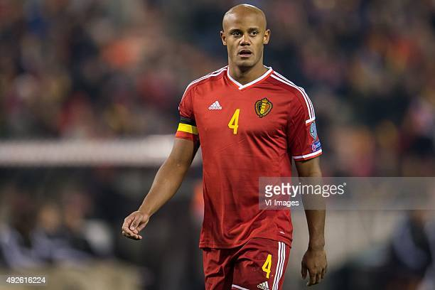 Vincent Kompany of Belgium during the UEFA EURO 2016 group B qualifying match between Belgium and Israel on October 13 2015 at the Koning Boudewijn...