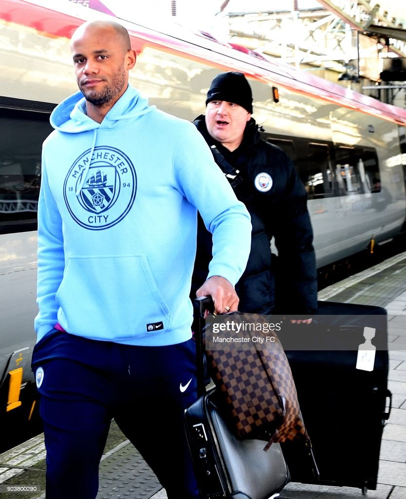 Manchester City Players Travel To London Ahead of The Carabao Cup Final