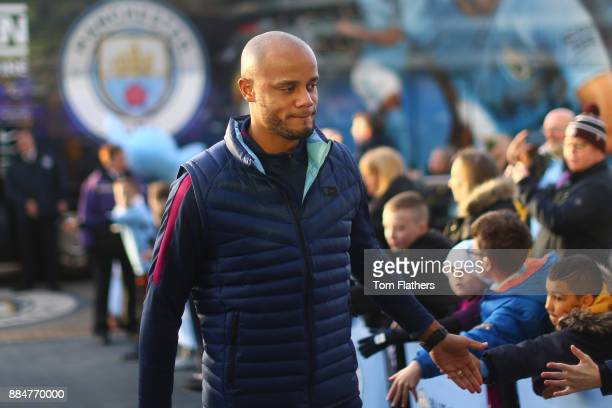 Vincent Kompany of Manchester City arrives at the stadium prior to the Premier League match between Manchester City and West Ham United at Etihad...